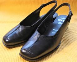 ARA RELAX fekete bőr hátul nyitott cipő (37-es)