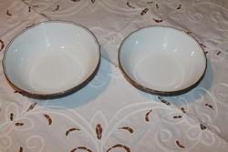 Aranyozott fodros  Bavaria köretes tál pár