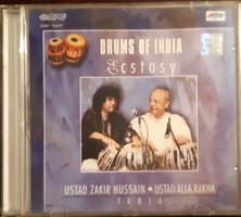 ZAKIR HUSSAIN  ÉS ALLA RAKHA  TABLA  - DRUMS FROM INDIA    CD