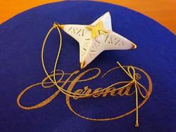 Makulátlan Herendi áttört csillag karácsonyfadísz