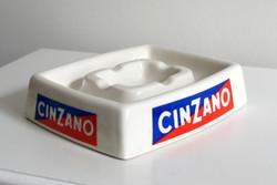 Cinzano hamutartó hamutál reklámtárgy olasz porcelán hibátlan reklám 70-es évek