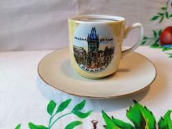 Cseh porcelán kávés csésze + Német alj