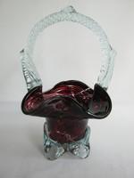 Bordó üveg kosár
