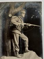 Régi képeslap 1916 katona fotó fénykép I. vh. levelezőlap