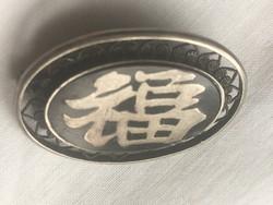 EZÜST-kínai kitűző-jelzett