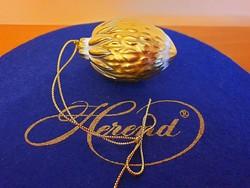 Makulátlan Herendi arany karácsonyfadísz