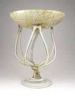 1C491 Művészi muránói üveg asztalközép kínáló dísz tál 22 cm