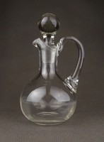 1C388 Régi hibátlan dugós olajos üveg kínáló 16 cm
