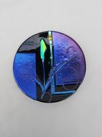 Art deko szignózott üveg tányér.