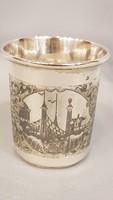 Antik ezüst Orosz pohár, kupa, kehely