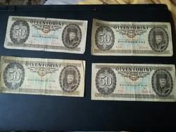 1980-1989 ig 50 Forint LOT