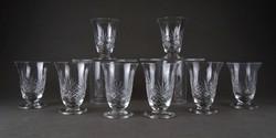 1C386 Talpas kristály pohár készlet 8 darab