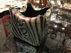 Irizáló üveg váza