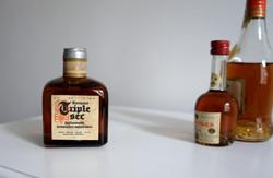 TRIPLE SEC 1dl-es mini üveg 60-as évek bontatlan Magyar Likőripari Vállalat