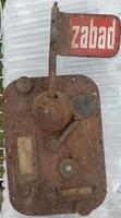Takszameter(taxióra) előlapja zománcozott Szabad jelzésű táblával Original Taxameter BRUHM Berlin W.