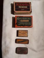 Régi tollhegyek dobozokban( 5db doboz)