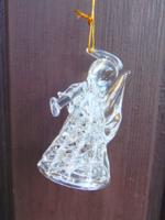 Üveg angyalka (karácsonyfa dísz)