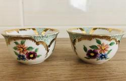 Kézi festésű kis porcelán kínáló tálkák / csészék