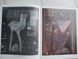 Dedikált katalógus: Gyarmathy Tihamér (1915-2005) kiállítása, Műcsarnok, 1986.
