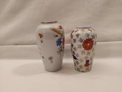Ritka mintázatú Zsolnay vázák egyben!