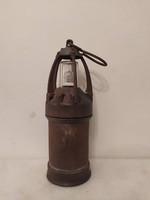 Antik vasutas bakter bányász karbid lámpa bányászlámpa gyűjteményi darab