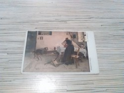 Antik képeslap (Wiener Kunst).