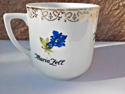 Maria Zell feliratos virágos bögre Heinrich