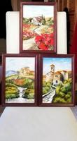 Czinóber - Toscana pillanatok ( 20 x 30, olaj, új keretben )