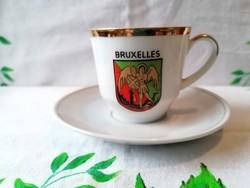 Porcelán kávés csésze + alj