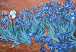 A fehér írisz, Vincent Van Gogh - Íriszek c. festménye alapján