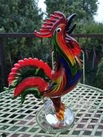 Monumentális muránói kakas - üveg műalkotás