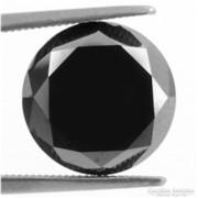 Csodás fekete labor gyémánt/moissanit Dél- Afrikából 2,2 ct