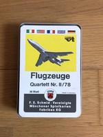 Retro 1978 -as német Quartett Nr. II/78 -as repülős kártya