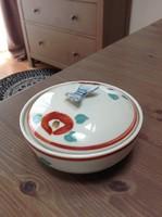Japán kézzel festett fedeles porcelán bonbonier