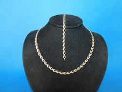 Sokszínű  Arany 14k nöi nyakék + karlánc  10.3 gr