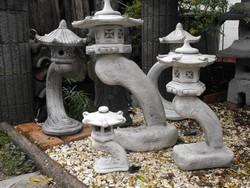 Szép 85cm Japán Kő lámpa Feng Shui  kerti tó szikla kertbe pagoda szobor  Minőségi fehér műkő