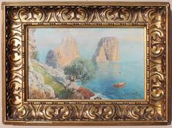 Giuseppe Giardiello at the island of Capri