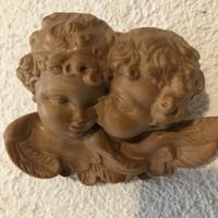 Régi kézi faragású fa angyalok