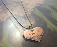 Ezüst lánc szív medállal /Noémi