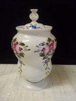 Hollóházi kézzel festett fedeles váza