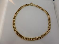 Régi széles arany nyakék / nyaklánc