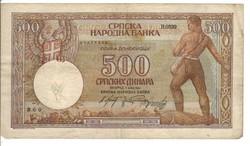 500 dínár 1942 Szerbia