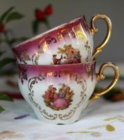 1 db Bavaria finomporcelán teás csésze, jelenetes, aranyozott