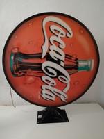 Régi Coca Cola világító reklám 89x89cm reklámtábla