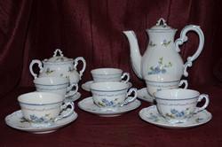 Zsolnay kék barack virágos kávés készlet  ( DBZ 0078 )