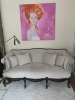 Gyönyörű, restaurát, neobarokk kanapé