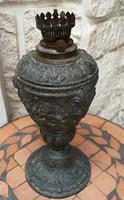 Asztali, antik  lámpa díszes spiáter fém, jó állapotban!