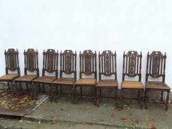 Reneszánsz magas támlás szék 8 darab