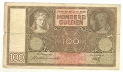 100 gulden 1939 Hollandia