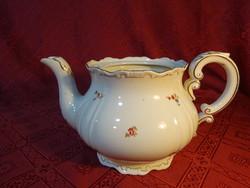 Zsolnay porcelán, antik, pajzspecsétes teáskanna, tető nélküli.